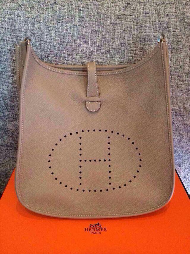 1442f92d06 Spring Summer 2015 Hermes Cruise Outlet-Hermes Evelyne Bag in Tan Togo  Leather