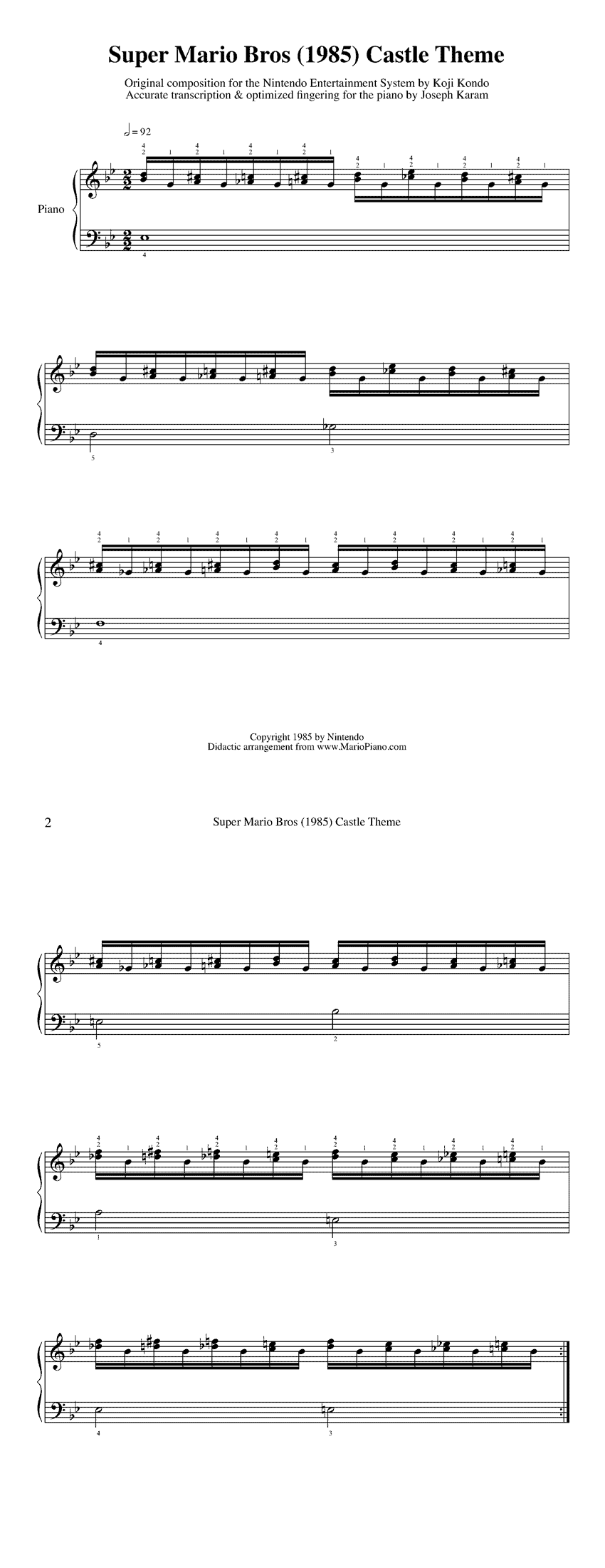 Free popular sheet music for amateur musicians and learners!
