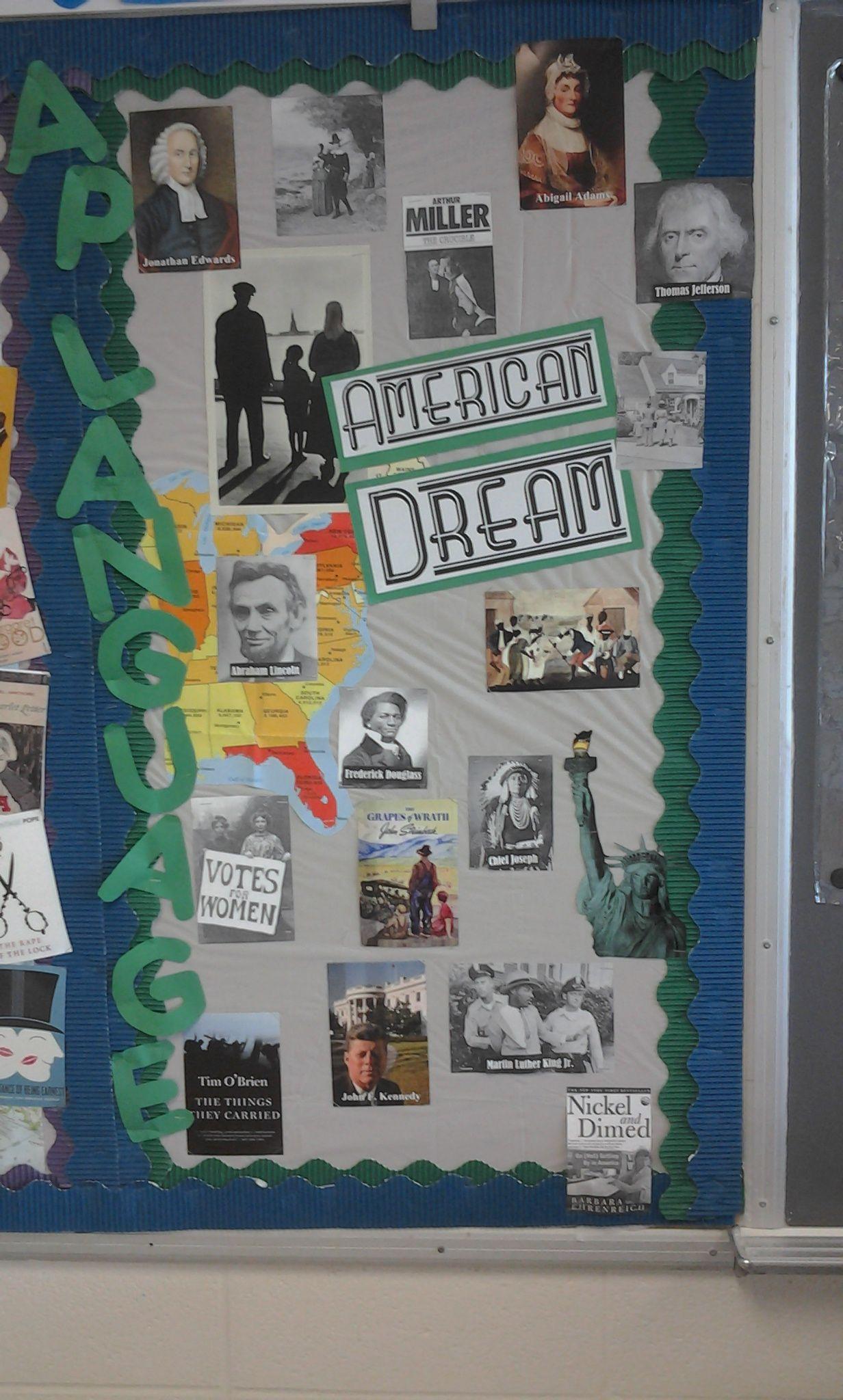 Ap Language Bulletin Board American Dream Theme High