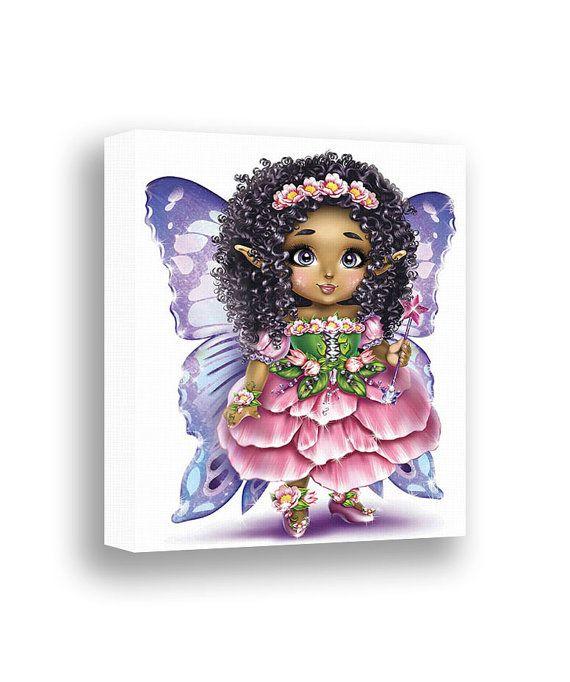 Girls wall art african american girl princess room decor fairytale castle carriage nursery pink set of also rh pinterest