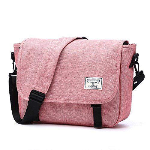 023ab6fe9811 GOHIGH 14 Inches Men s Classic Messenger Bag Life Boost Vintage Canvas  Satchel Messenger Laptop Shoulder Crossbody Sling Bag For All-purpose Use