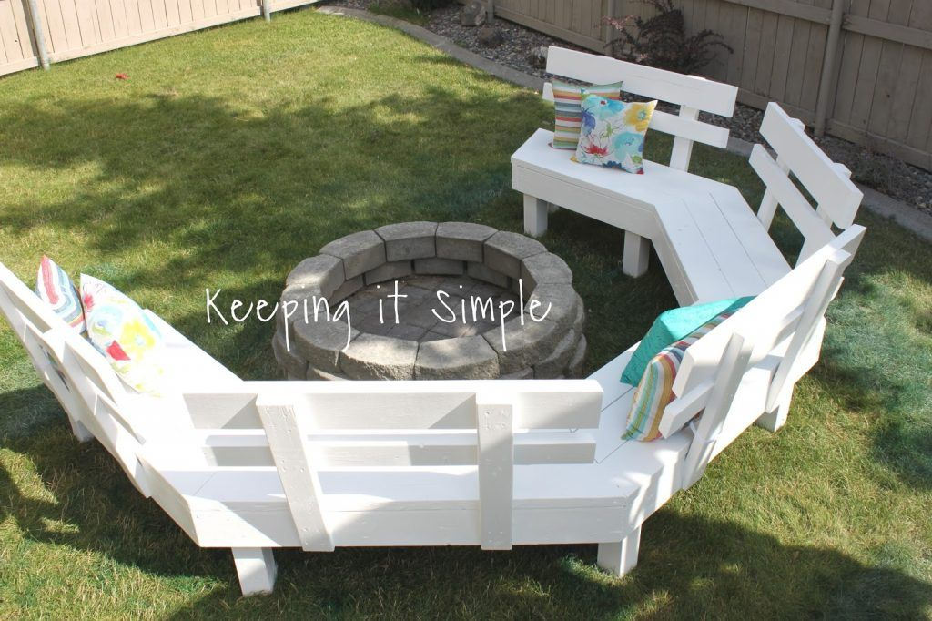 Diy Fire Pit Bench With Step By Step Insructions Fire Pit Bench