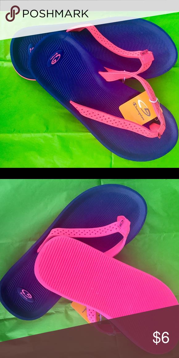 76eeffbcf 😎FLIP FLOPS NWT LADIES SZ 6 C9 Champion Blue Pink 😎FLIP FLOP SANDALS by  Champion