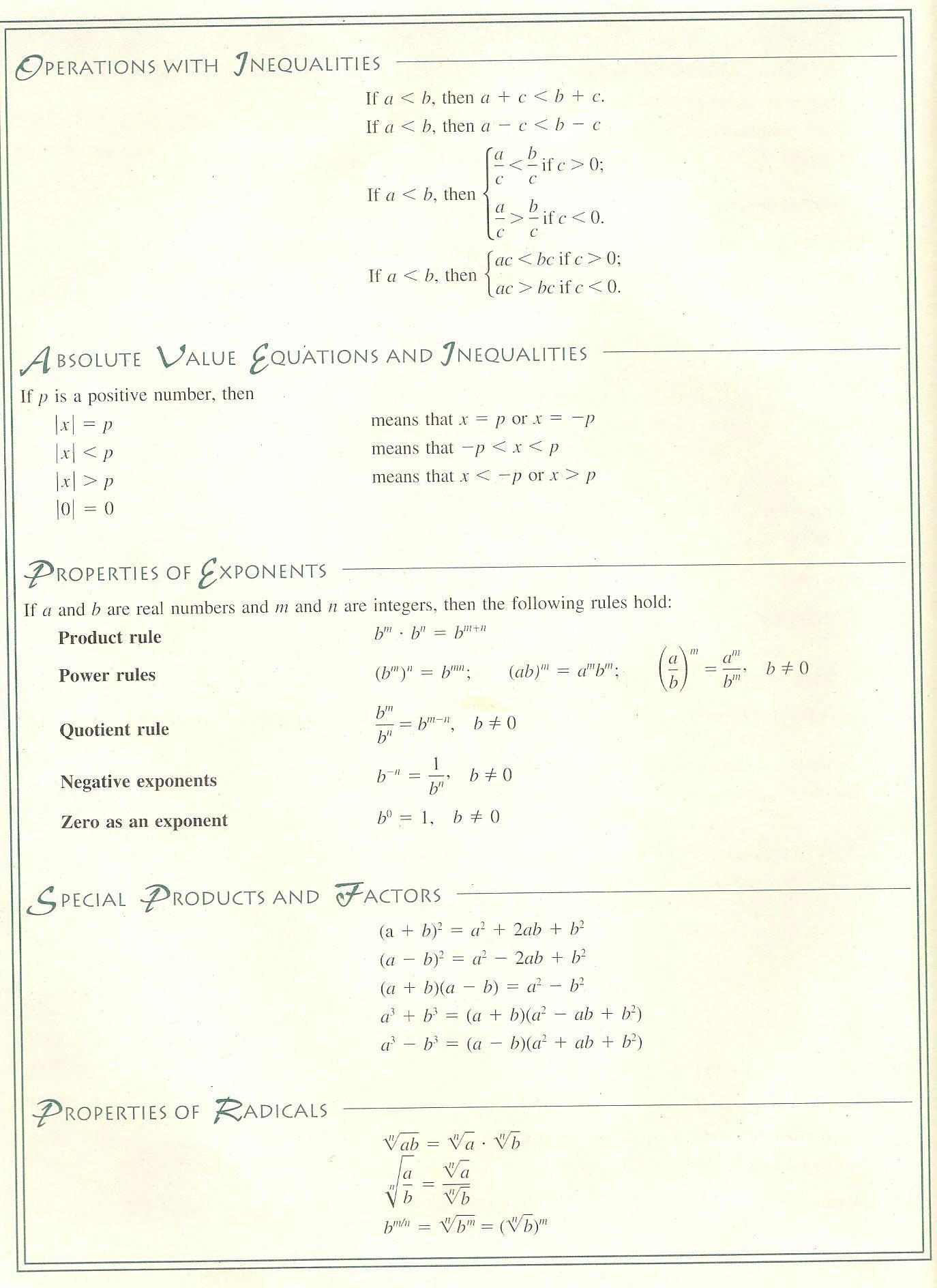 Math Worksheet Math References Video Math Teacher Math Cheat Sheet For Algebra 1 Math Cheat Sheet Math Worksheet Math Teacher [ 1888 x 1374 Pixel ]