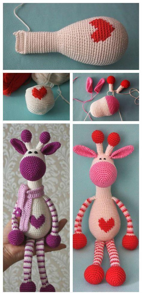Cute Crochet Giraffe Amigurumi Free Pattern