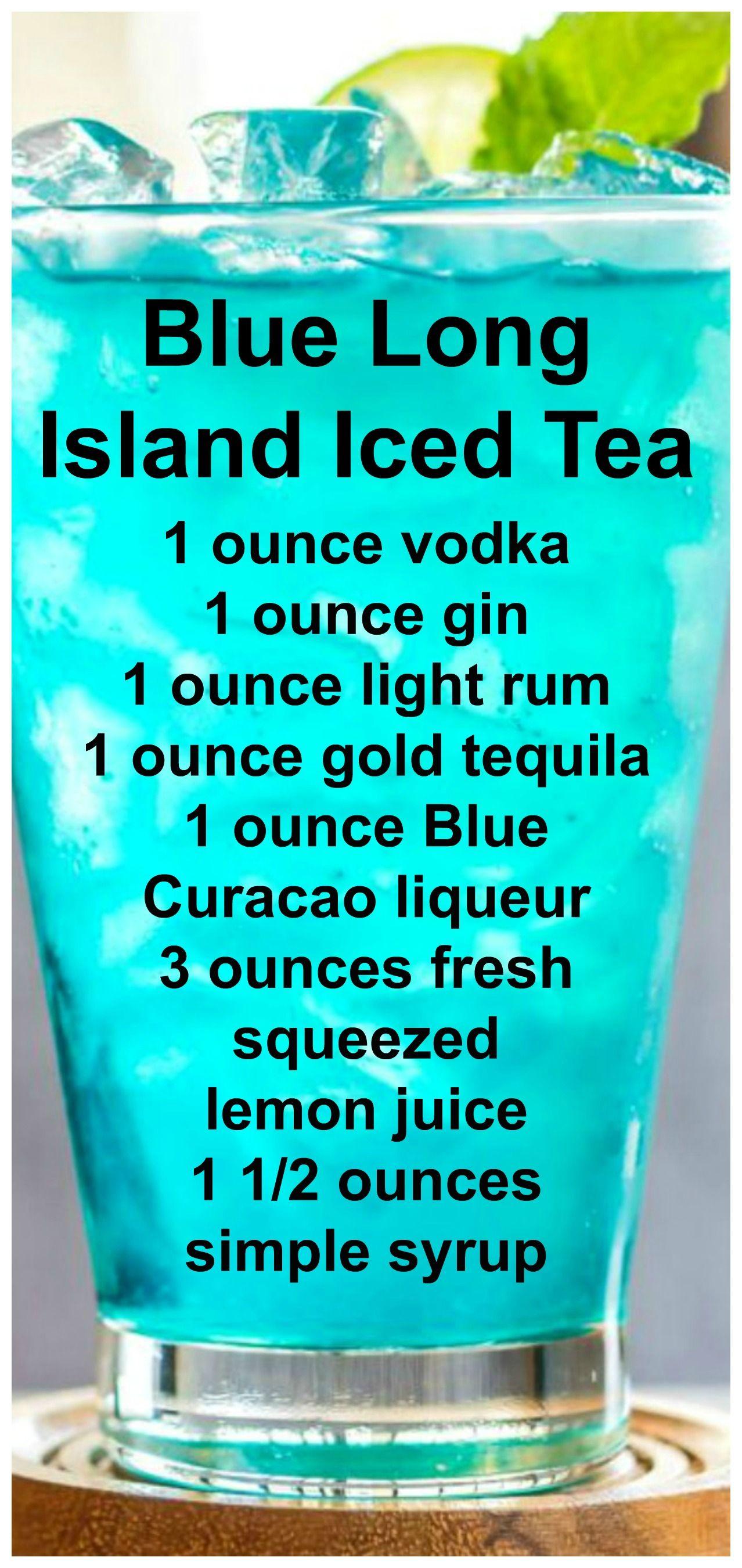 Blue Long Island Iced Tea Drink Recipe Mix That Drink Recipe Long Island Iced Tea Drinks Alcohol Recipes Iced Tea Drinks