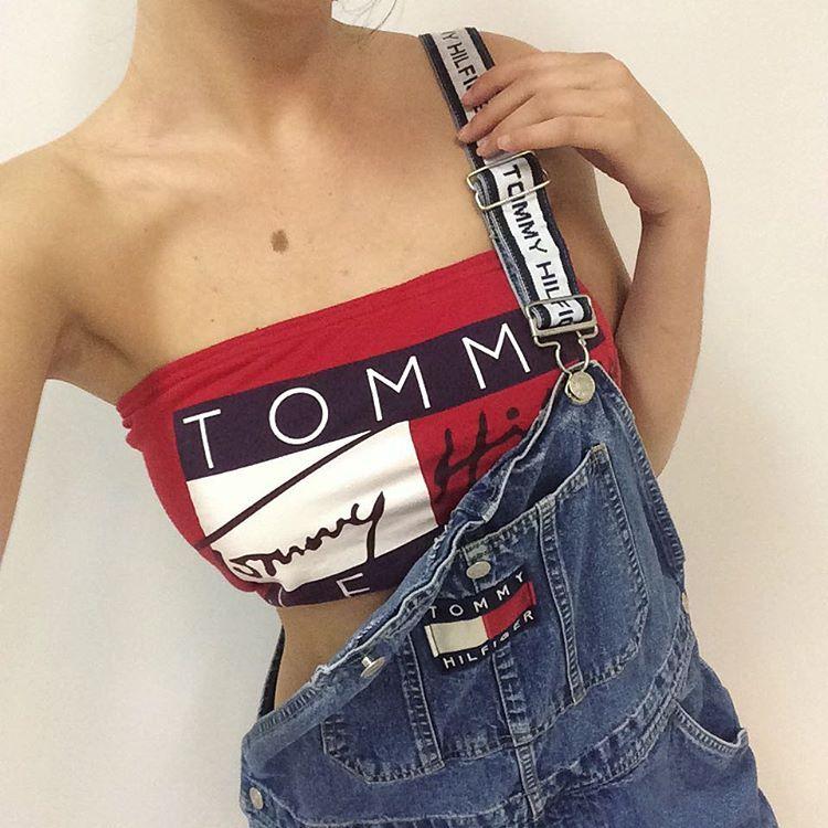 17e9ee703b Vintage rework Tommy HIlfiger Aaliyah bandeau
