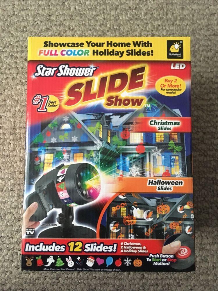 Star shower laser light show projector christmas slideshow led