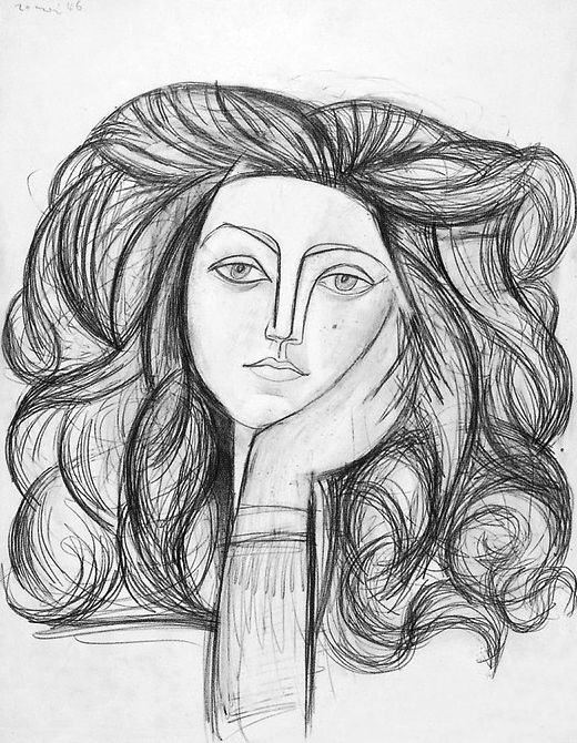 Picasso Line Drawing Face : Françoise gilot by pablo picasso beautiful