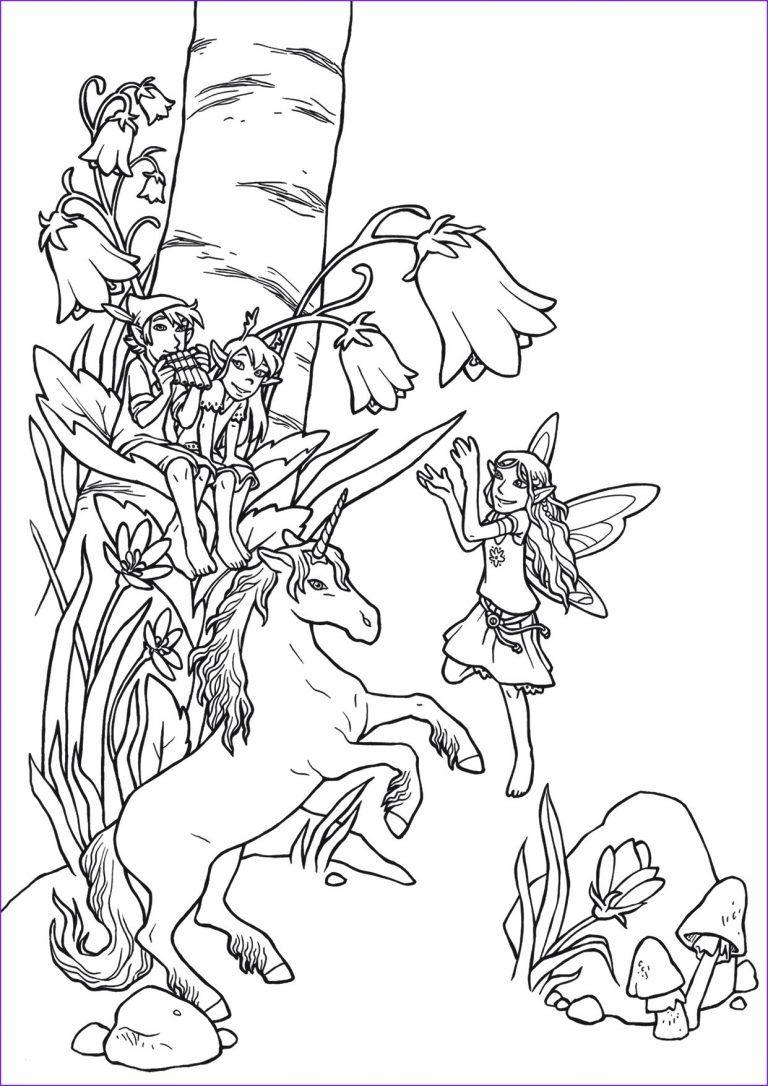 einhorn elfe ausmalbild  tiffanylovesbooks