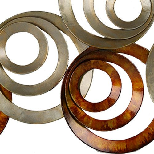 Wall Decoration Modern Metal Wall Art Circles In Circles Wall Art