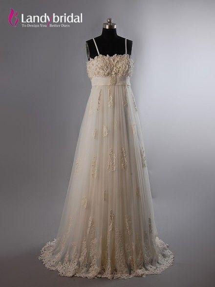 http://www.landybridal.jp/empire-spaghetti-strap-tulle-champagne-wedding-dress-vm0115.html