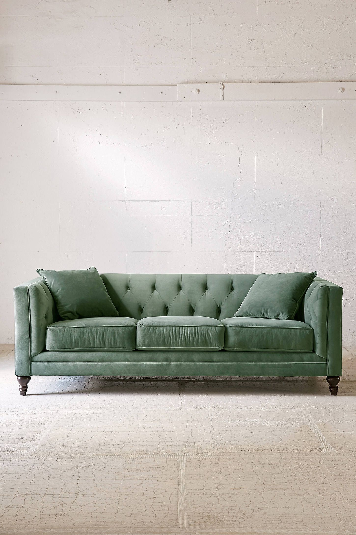 shop the graham velvet sofa and more urban outfitters at urban