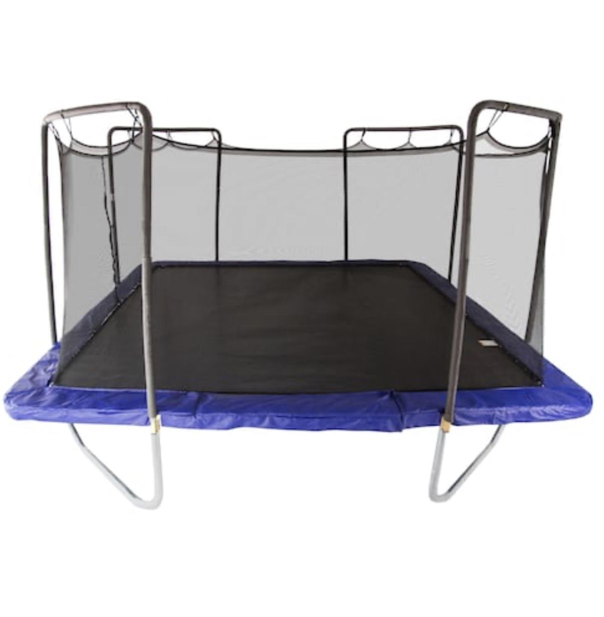 Skywalker Trampolines 15 Ft Rectangle Trampoline With Enclosure In Blue Strc915 2 The Home Depot In 2020 Trampoline Enclosure Trampoline Rectangle Trampoline