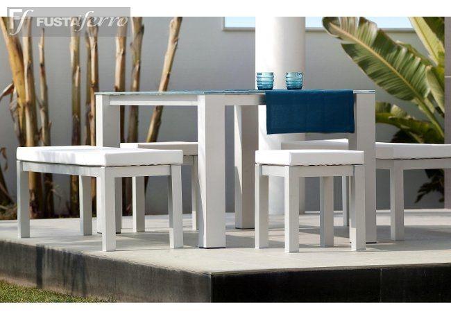 Nueva coleccion 2014 muebles de jardin de aluminio mesa y - Muebles hosteleria barcelona ...