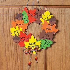 The Ultimate Multi Tasking Craft Teaching Kids To Be Thankful And Decorating For ThanksgivingThanksgiving WreathsThanksgiving Activities