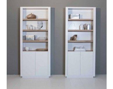 boekenkast wit met eiken - Inrichting keppler | Pinterest - Kasten ...