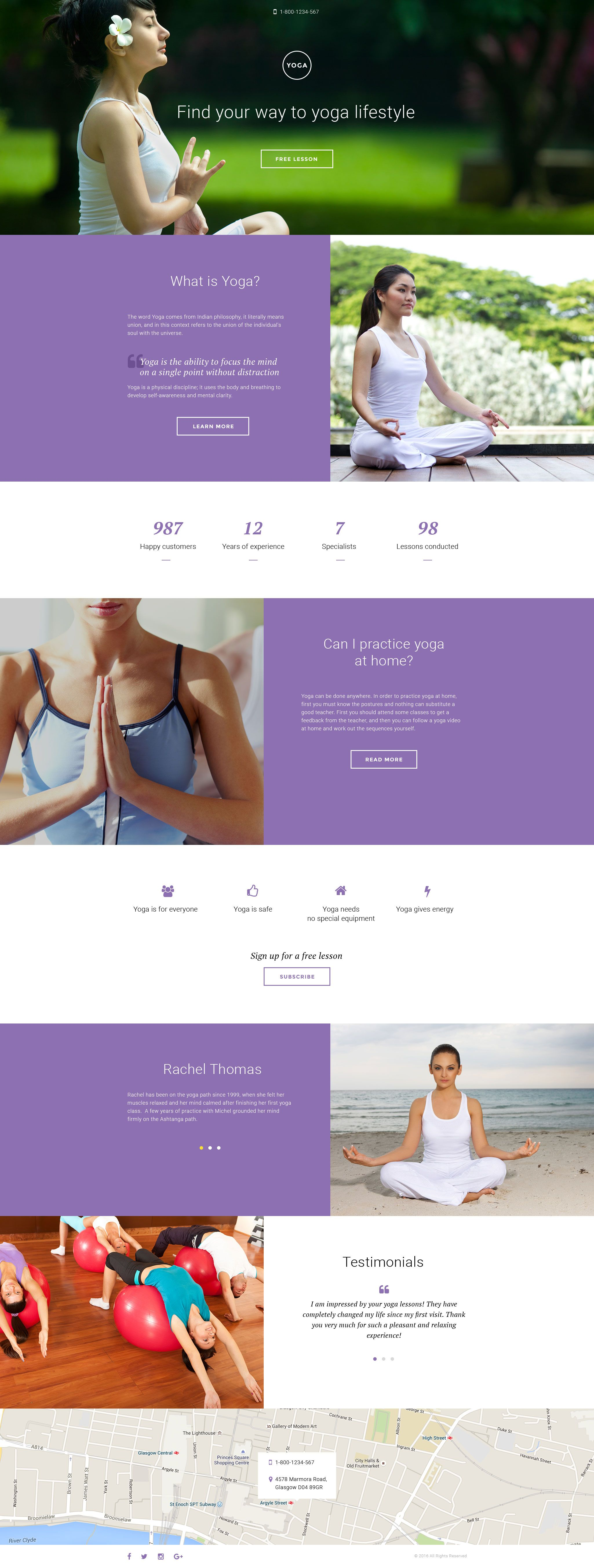 Yoga Responsive Landing Page Template #58334 http://www ...