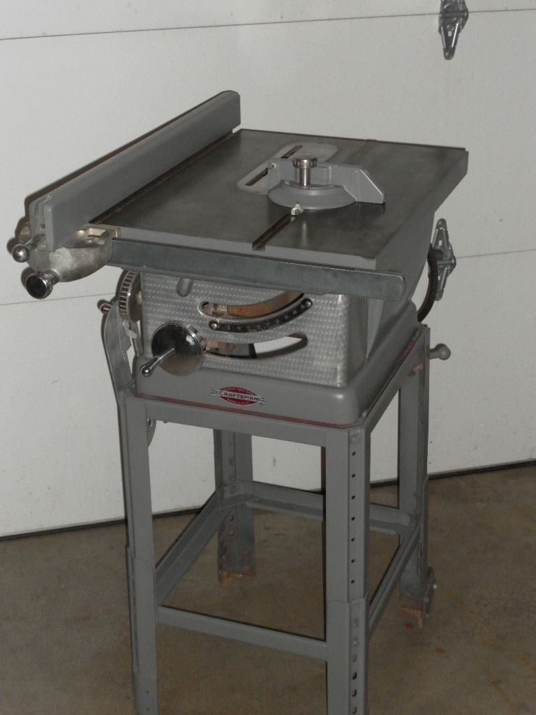 Craftsman table saw old school heavy duty in store items craftsman table saw old school heavy duty greentooth Image collections
