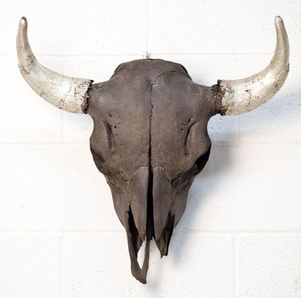 Bison Skull, Black / Metallic Horns