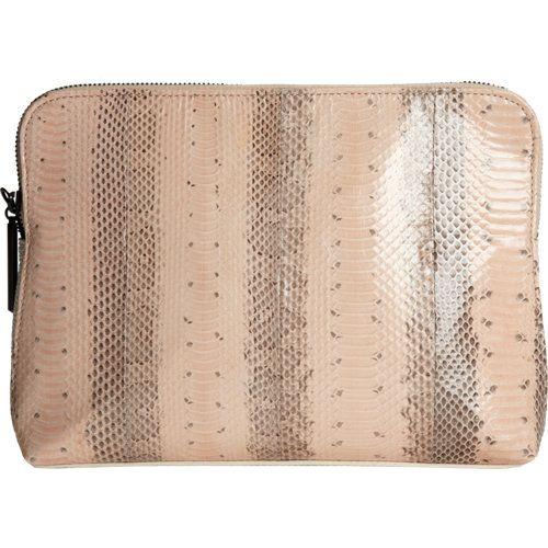 3.1 Phillip Lim Snakeskin 31 Minute Cosmetic Bag - Blush/White