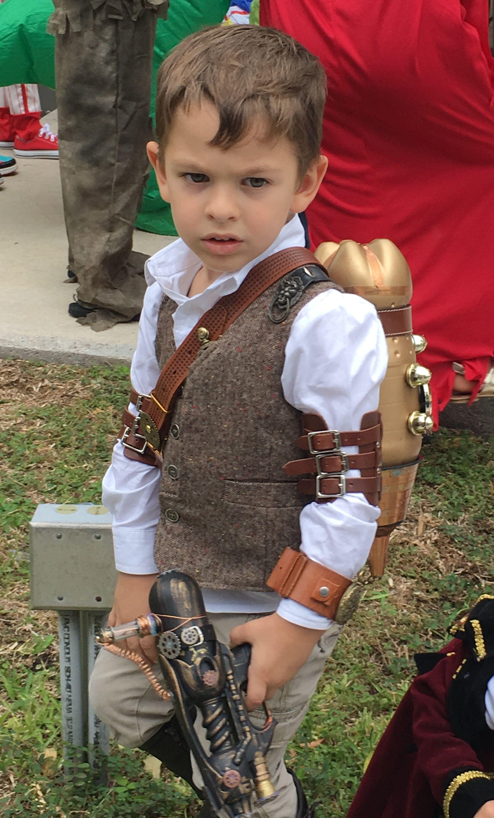 Steampunk Boy Halloween Costume Rocket Pack