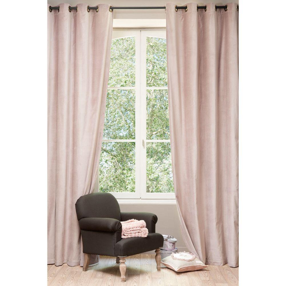 samt vorhang altrosa 140 x 300 cm minni pinterest altrosa vorh nge und mond. Black Bedroom Furniture Sets. Home Design Ideas