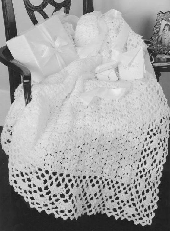 Patrón ganchillo Central - bebé libre afgana Crochet Patrón Enlace ...