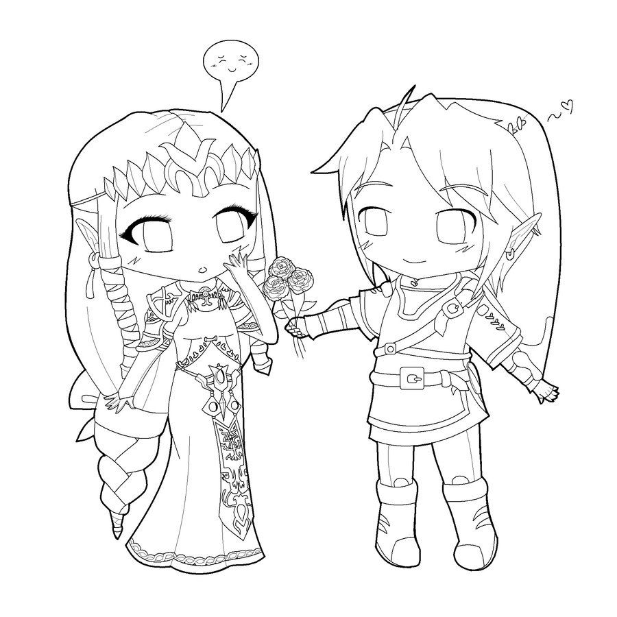 Zelda twilight princess coloring pages - Chibi Coloring Pages
