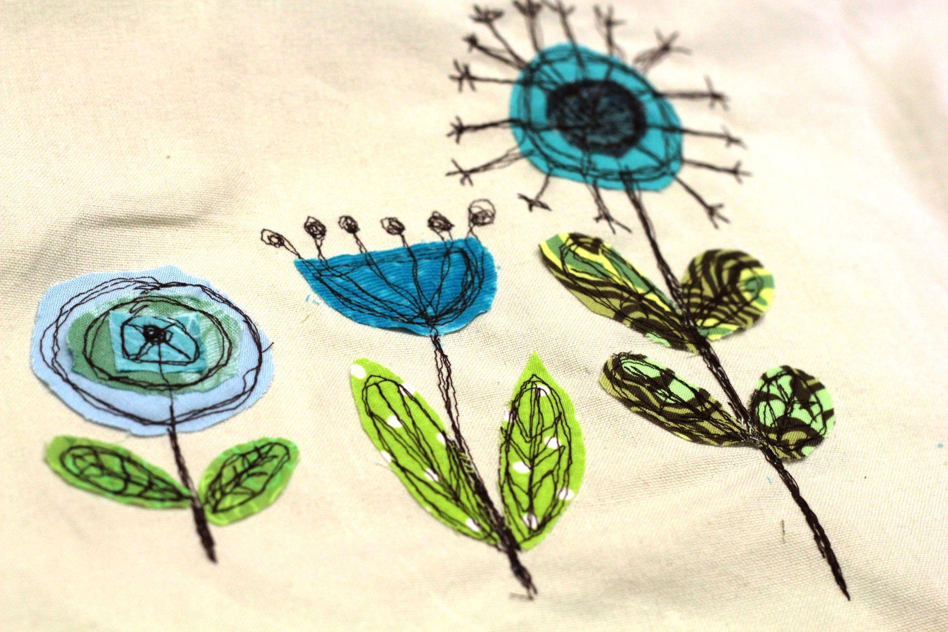 Les fleurs cousues à main levée sont toujours belles.   – Nähtipps