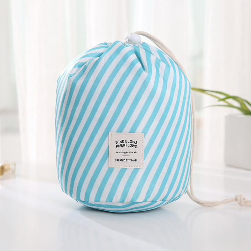 Wasserdichter Make-up-Beutel und Tasche – Blaue Streifen
