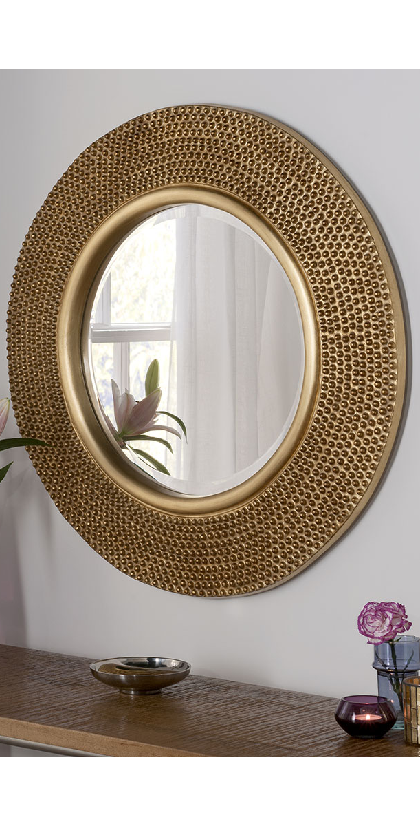 Haar Accent Mirror Gold Mirror Living Room Mirror Decor Round Gold Mirror