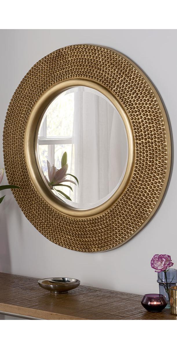 Haar Accent Mirror Gold Mirror Living Room Mirror Decor Round
