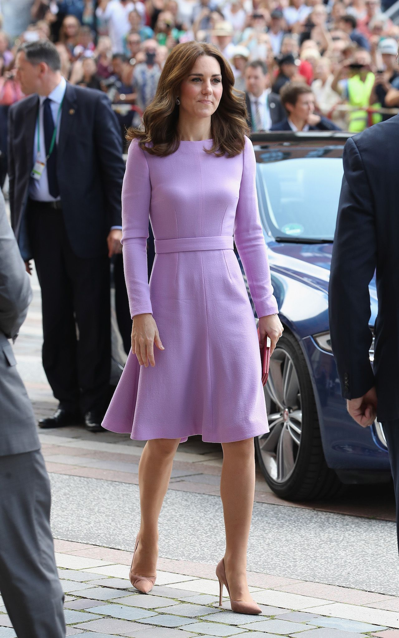Kate Middleton Is the Epitome of Perfection in Pretty Purple Dress ...