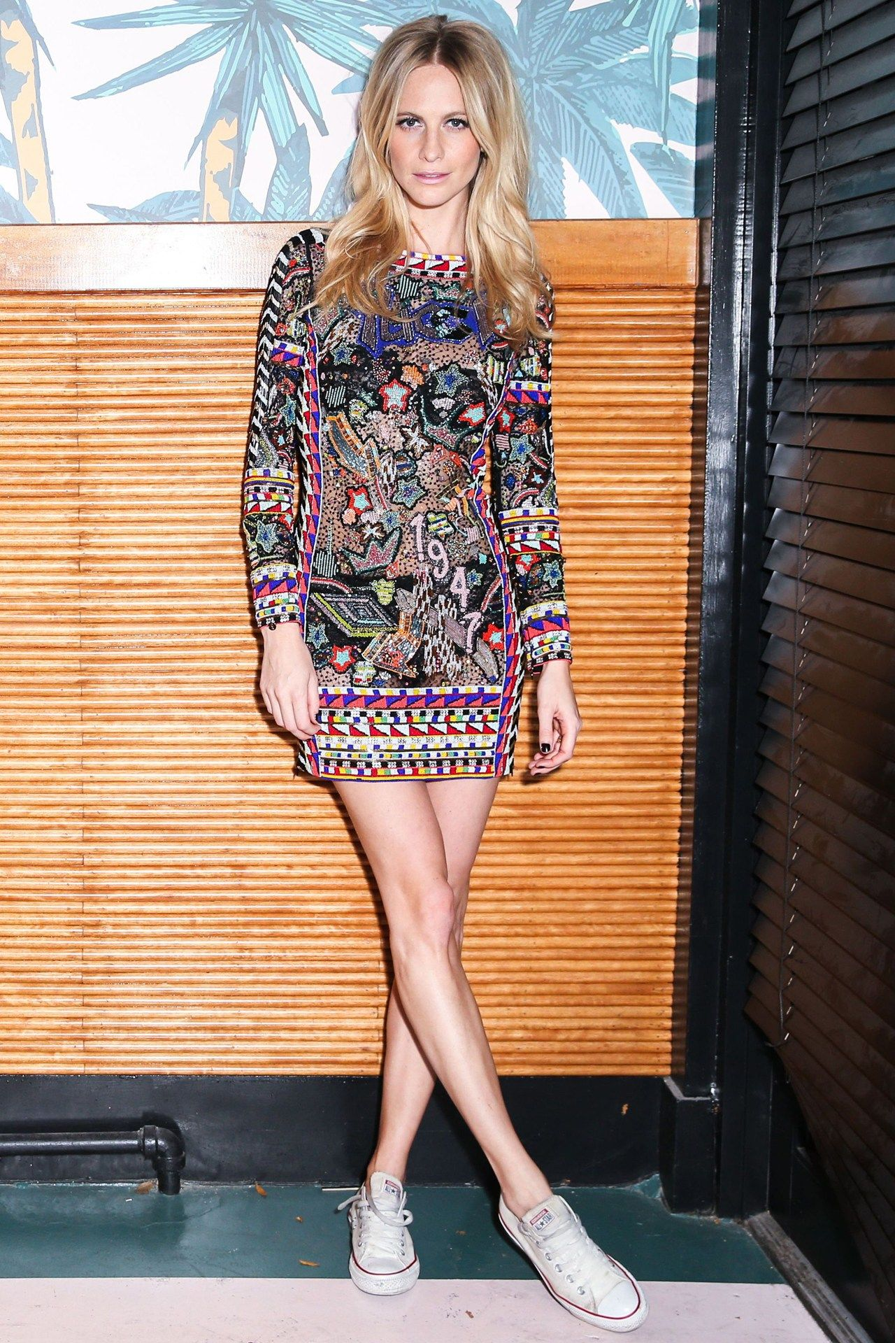 Poppy Delevingne - loving the Chucks with this look!