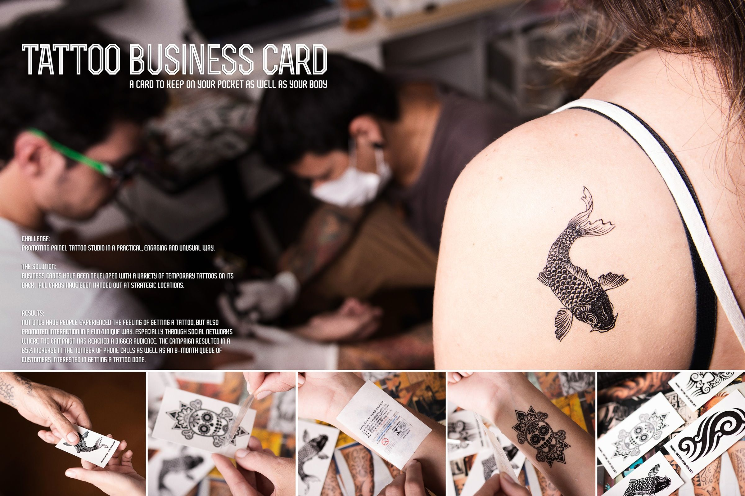Painel tattoo studio tattoo business card giving customers an painel tattoo studio tattoo business card giving customers an experience like getting a tattoo designed by advertiing agency bolery brazil colourmoves