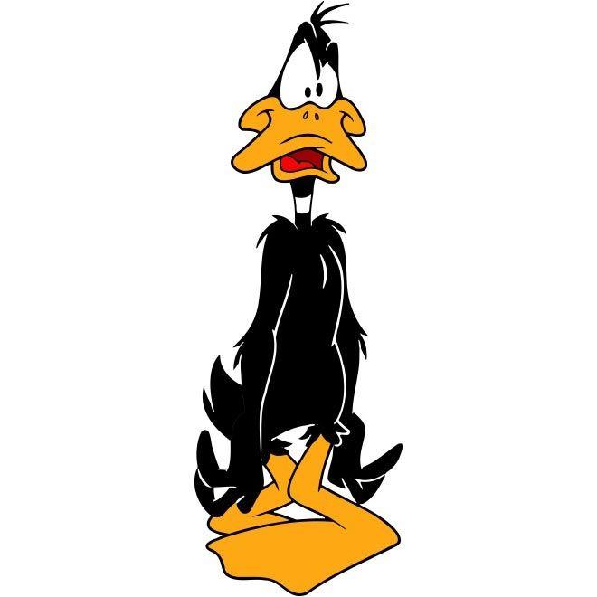 Cartoon Characters Facing Forward : Free vector daffy duck cartoon character http