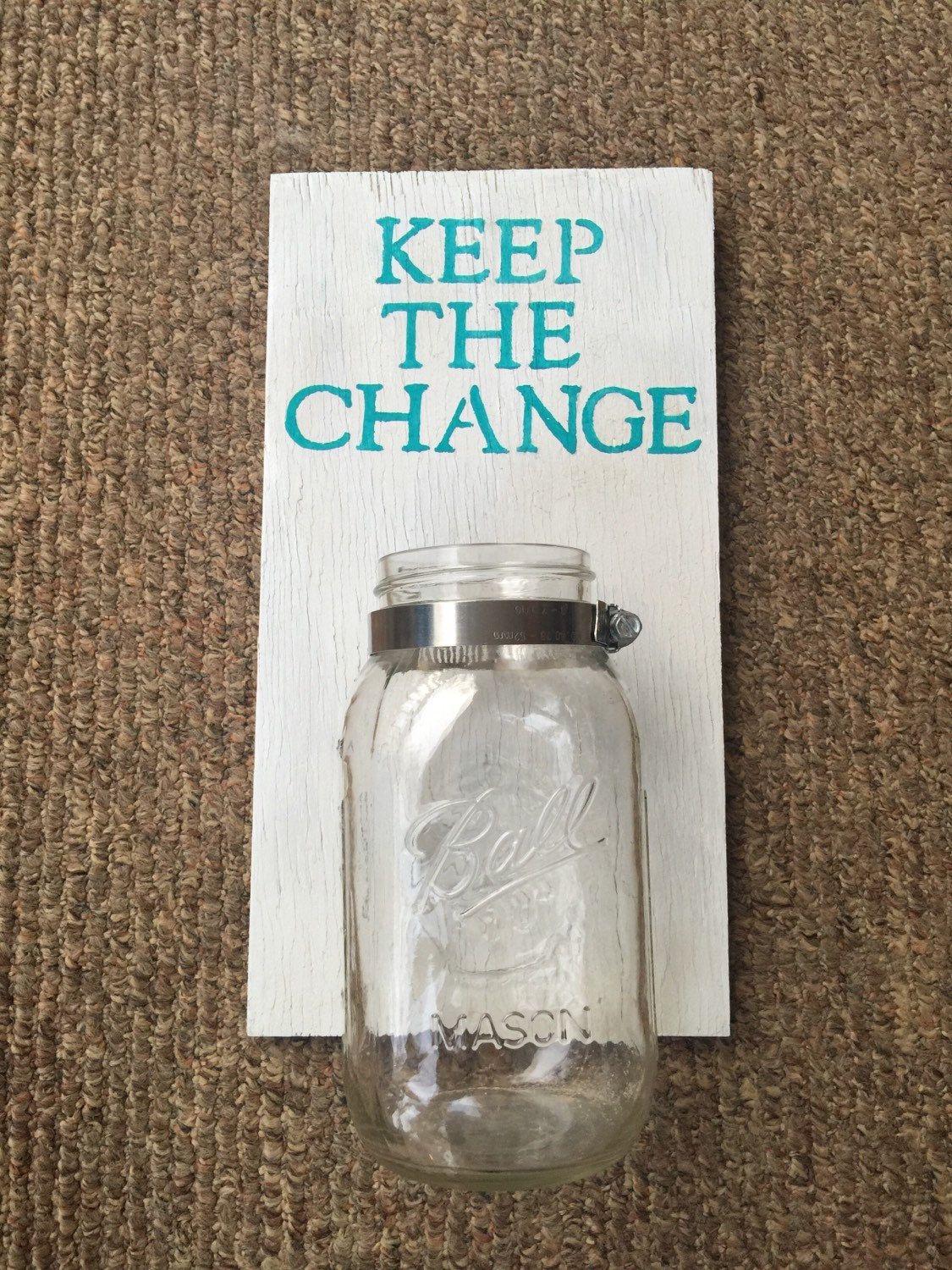 """Laundry Room Decor- """"Keep the Change"""" Holder by MyVintageUnique on Etsy"""