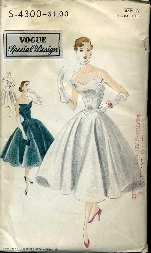 Vogue S-4300 ©1953 dress