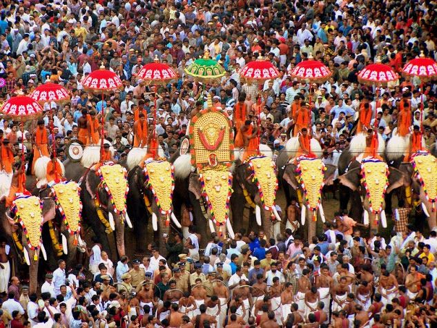 Elephant festival - Kerala - India