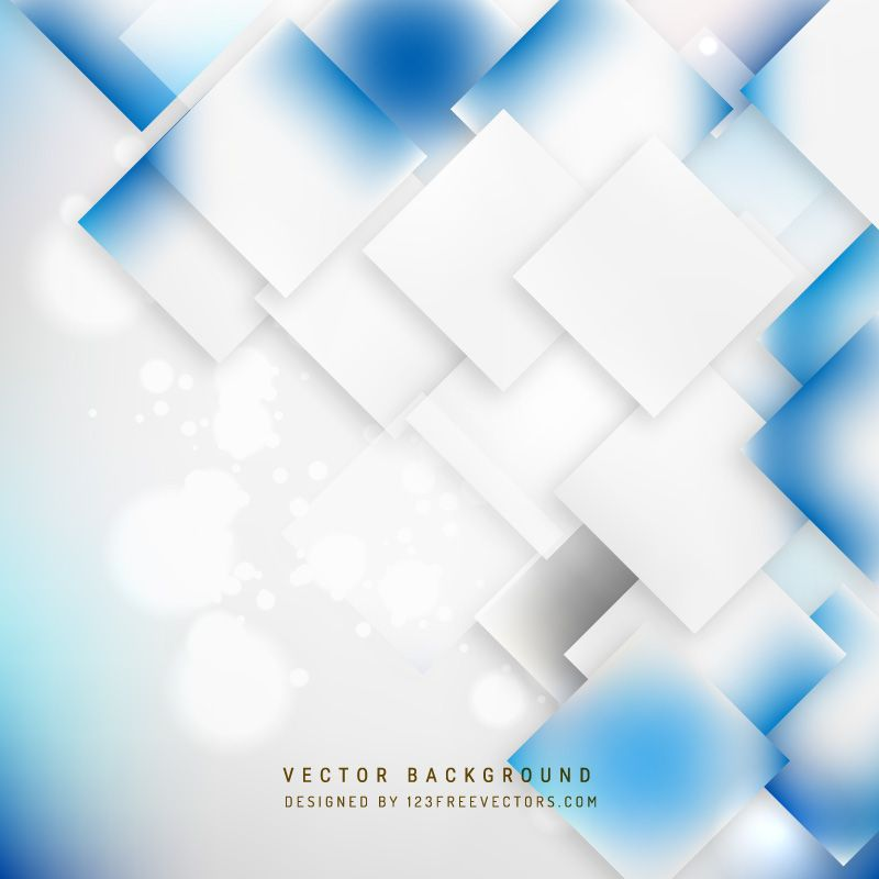 Abstract Blue White Geometric Square Background Blue White