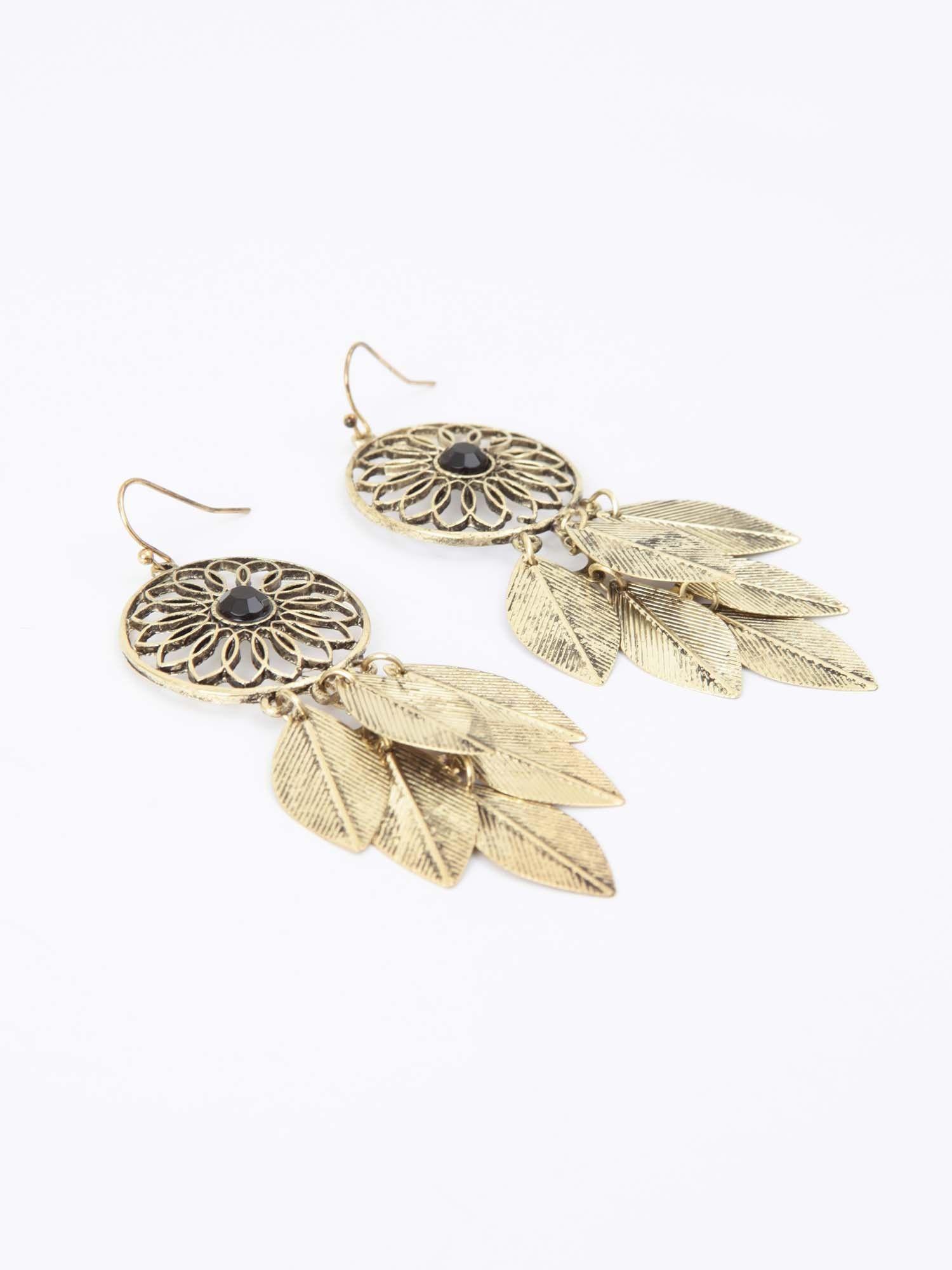 Altar'd State Dream Catcher Leaf Earrings