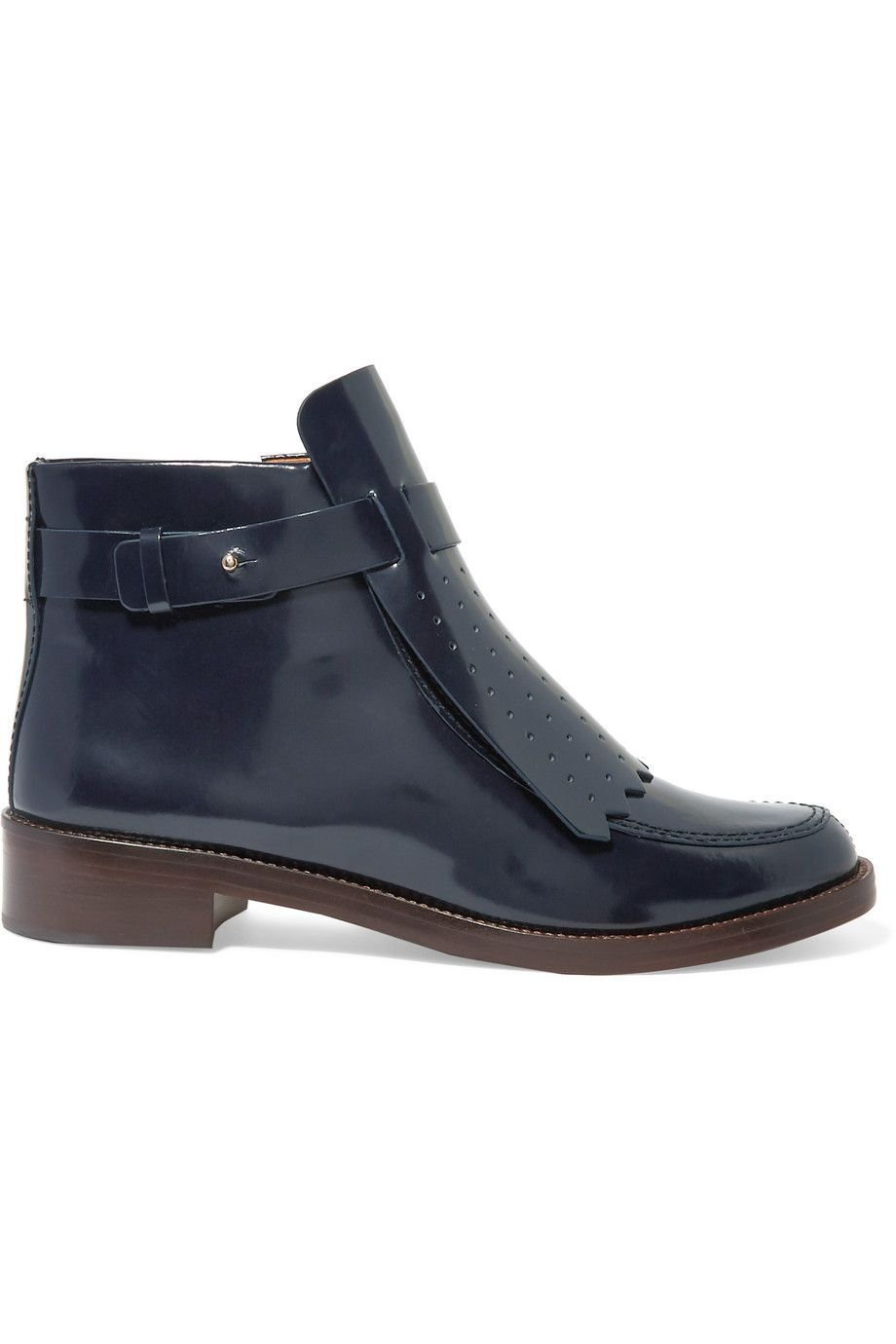 6887e1ff225807 12345 4b630 14574  official store tory burch hyde perforated glossed leather  ankle boots. toryburch shoes boots 9d7ab 5c949