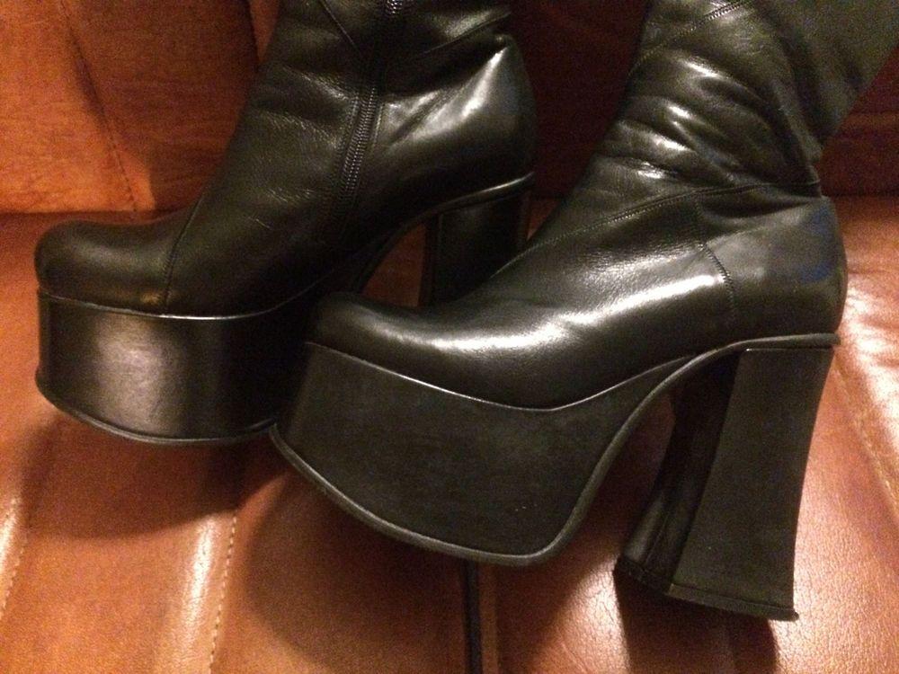 best sneakers 3b2ee 80e34 Buffalo Plateau Stiefel Echt Leder Gr.38-39/40 sw RaR Like ...