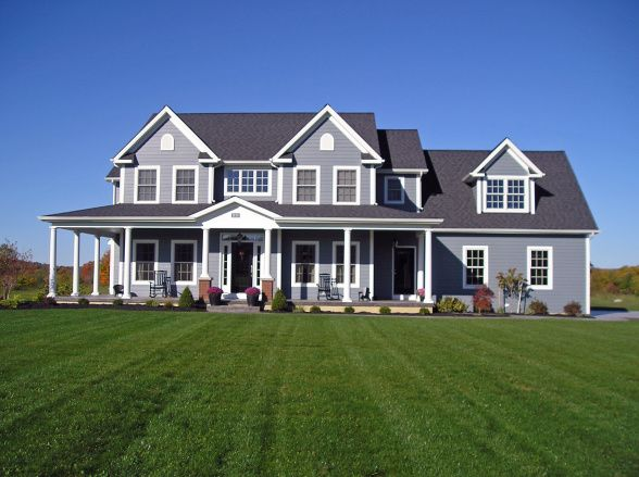 Image detail for classic farmhouse exterior home for Modern farmhouse cost to build