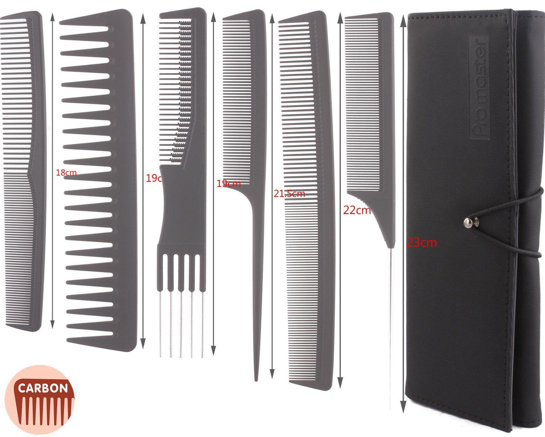 6pcs Professional Salon Hair Cutting Comb Set, Stylist