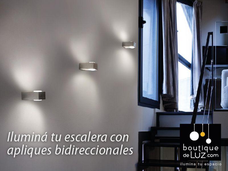 Iluminacion de una escalera ideas pinterest escalera for Apliques para escaleras de comunidad
