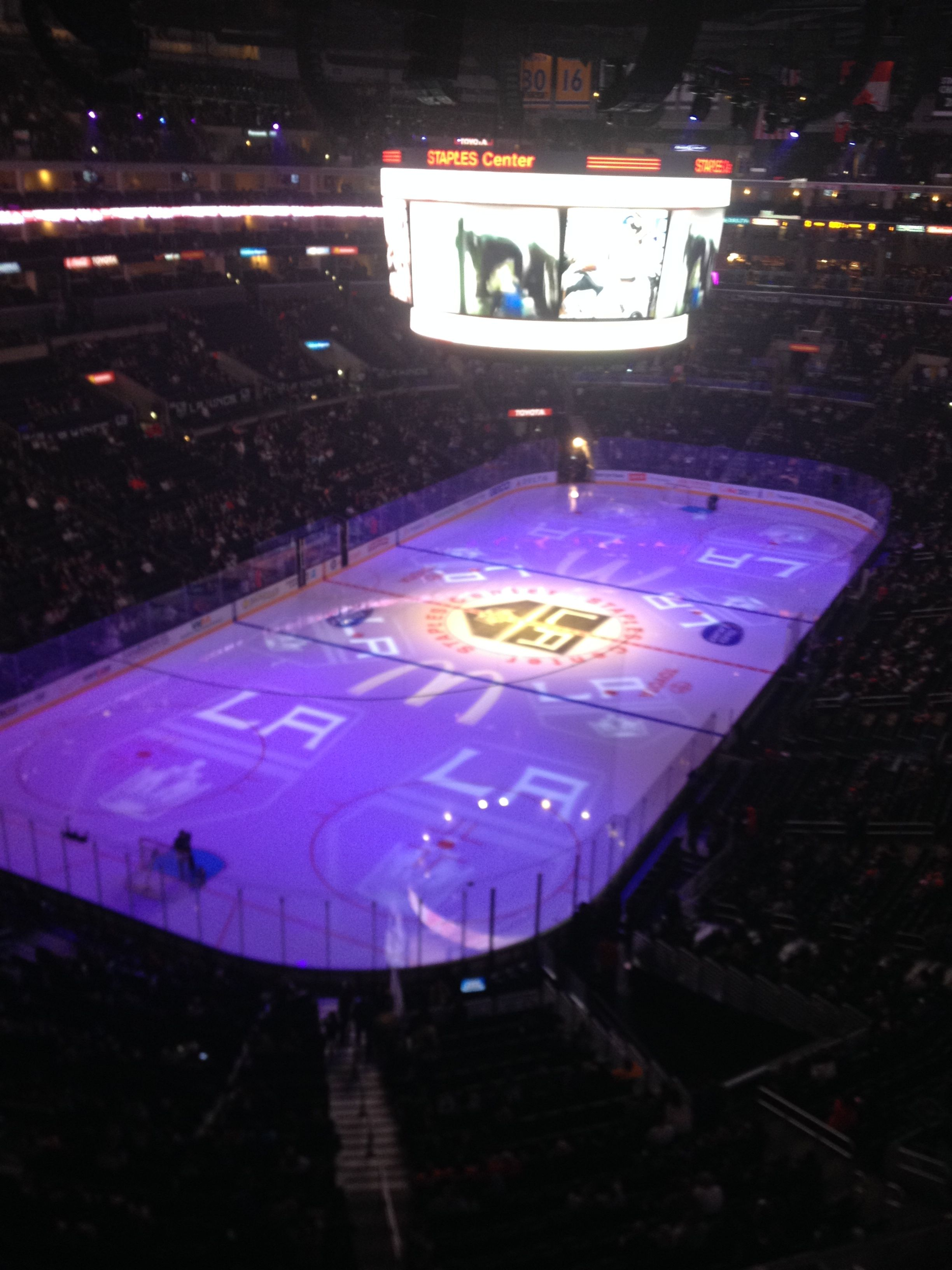 La Kings Hockey Game At Staples Center In La Went To My First