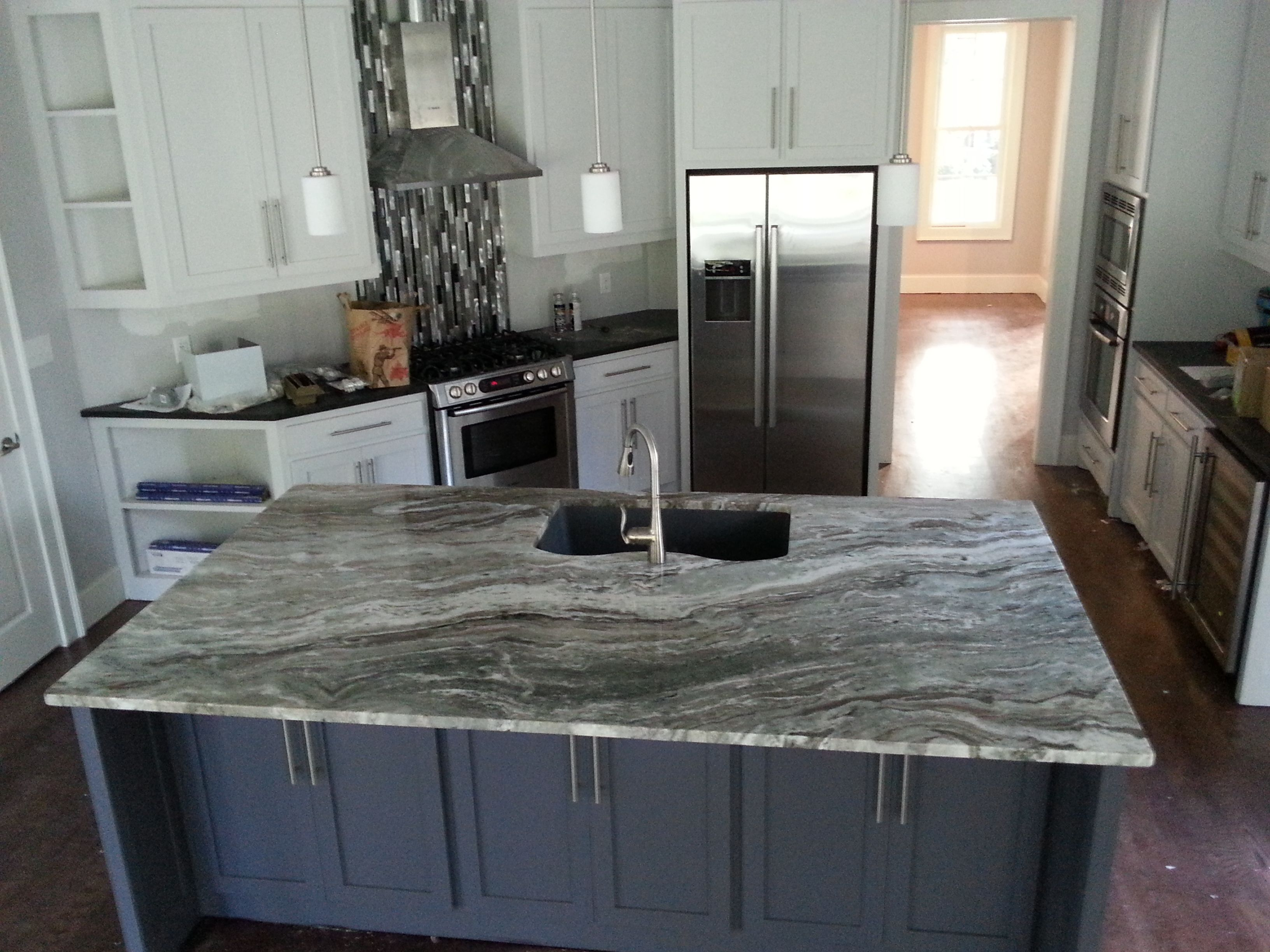 Fantasy Brown quartzite kitchen island countertop. | Ecstatic ...