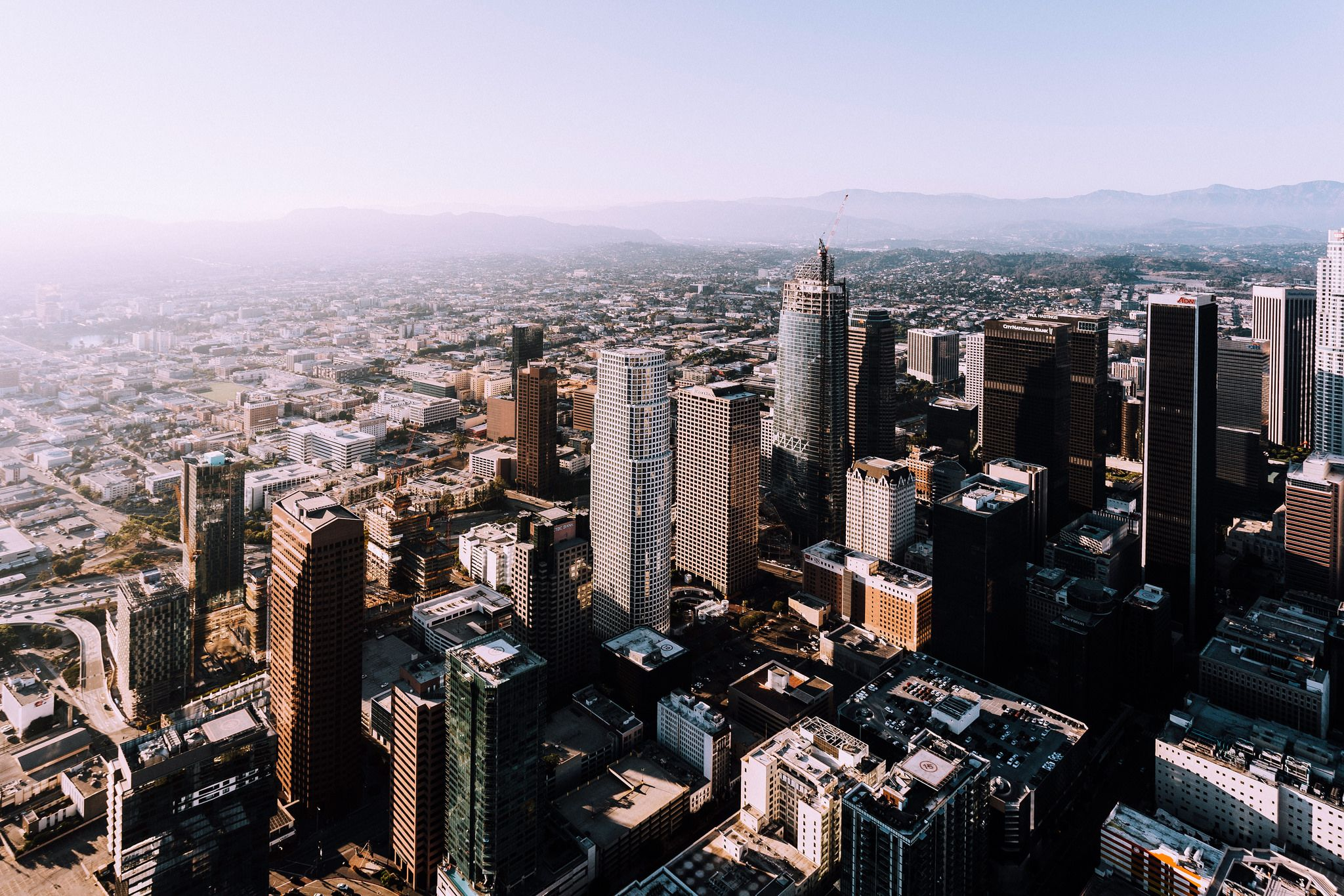 Los Angeles from a helicopter [2048x1365] [OC]. wallpaper